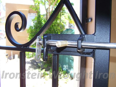 wrought iron gate lock